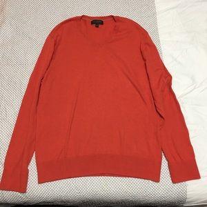 Orange Red Banana Republic V-neck Sweater